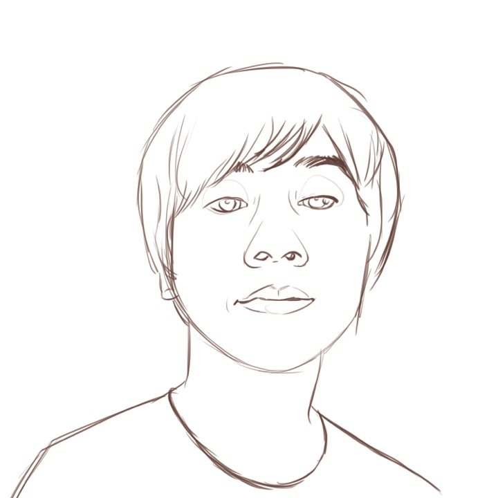 WIP Sketch of Tomohiro-san by Stephanie Campbell