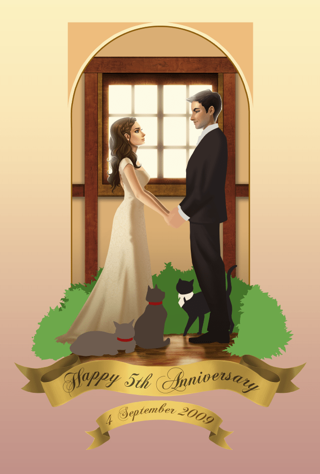 WIP of The Wedding by Angeline Roussell