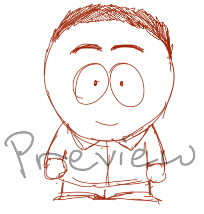 WIP of Tim Fong as a South Park character