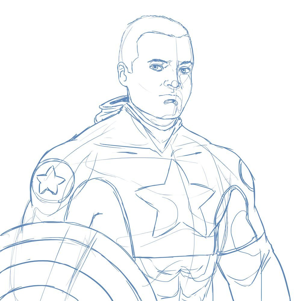 WIP of the New Captain America by Blacksmiley