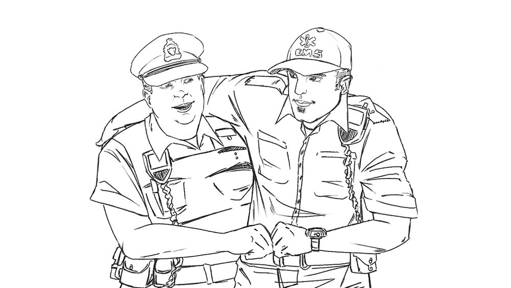WIP of the Paramedic and the Police Officer by Omniopticon