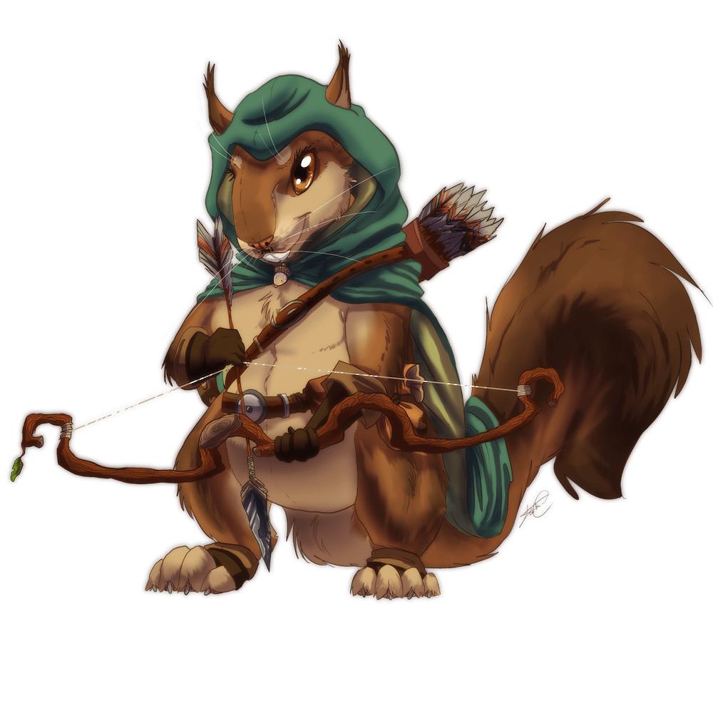 Wildefolk - Squirrell - Full Color - by Denitsa Trandeva
