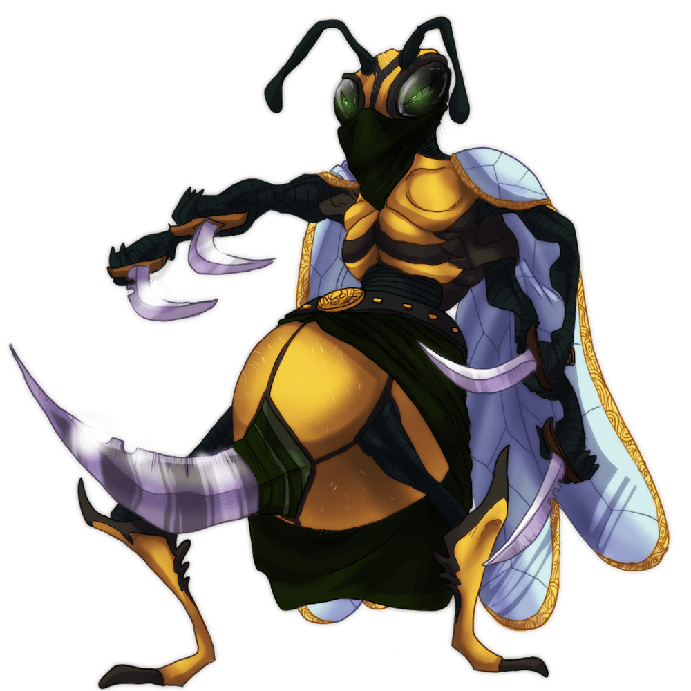Wildefolk Wasp Character Illustration by Denitsa Trandeva via ArtCorgi