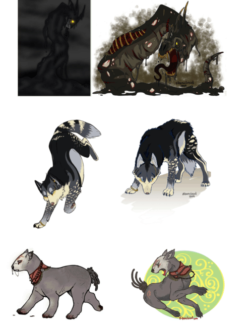 Animal Illustrations by Eboncloud