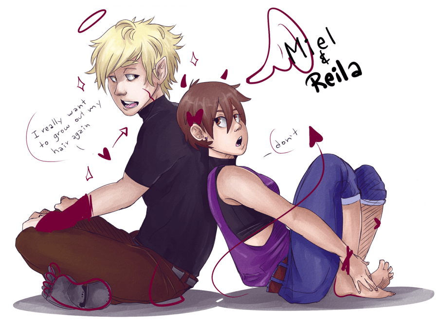 Anime Couple Illustration by AruRmz