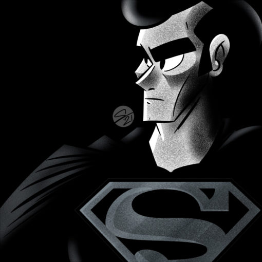 ArtCorgi - Bold digital portraits by Seni Oyewole featuring superman