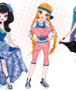 Bamboline trio fashion illustration by Elisa Moriconi