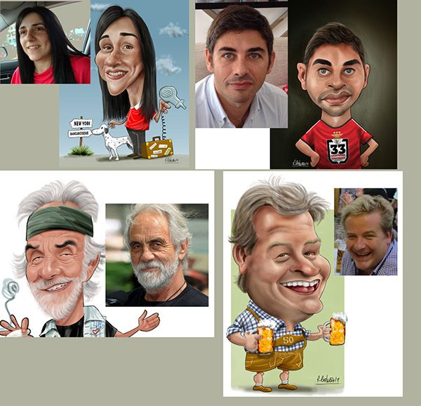 Before and After Caricatures by Ricardo Galvao