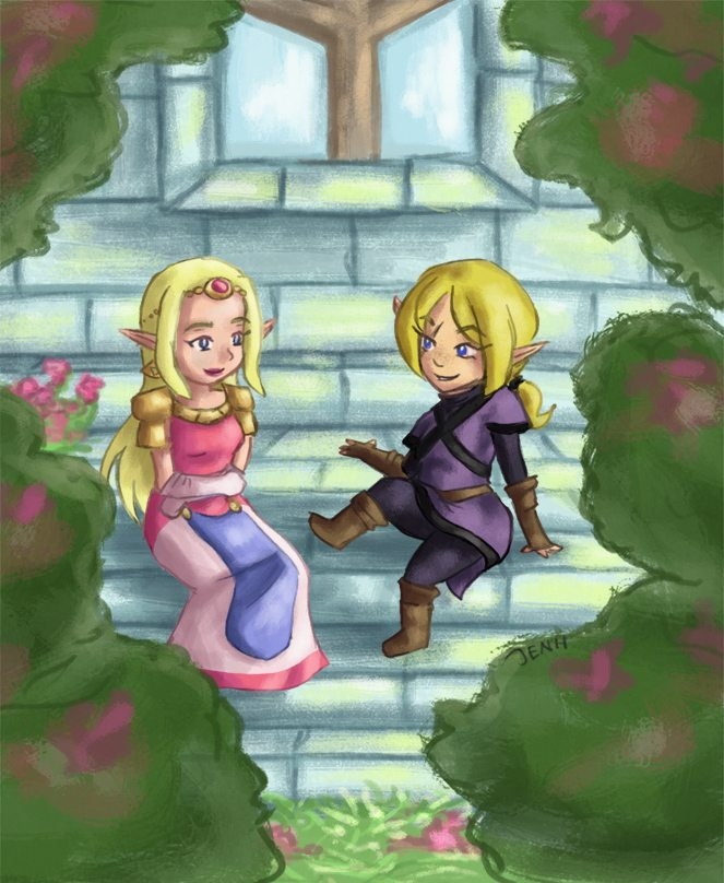 Cartooney Zelda Illustration by Jennifer Hicks