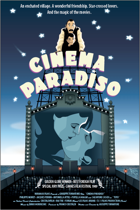 Cinema Paradiso Movie Poster by ArtOfRam
