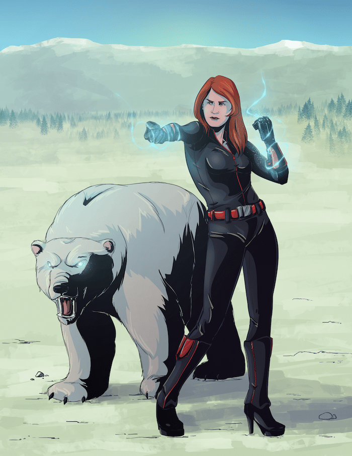Color Comic Style Polar Bear Commission by Blacksmiley