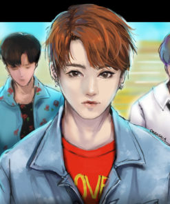Digital Painting Portraits by Shiabe featuring BTS - 02_dna