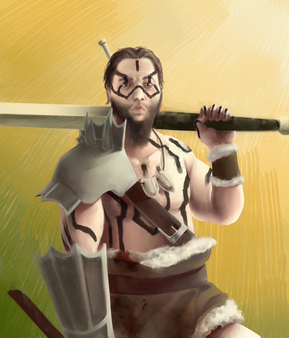 Eric the Barbarian by Namio via ArtCorgi