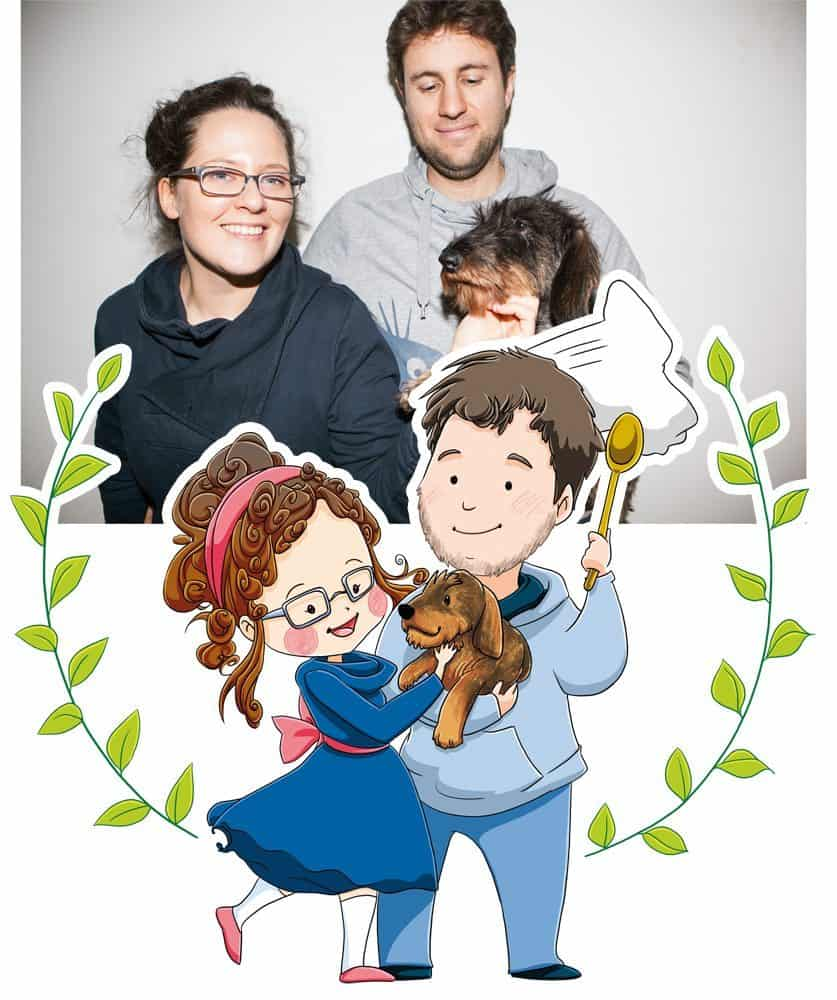Family and Pet Portrait by Elisa Moriconi