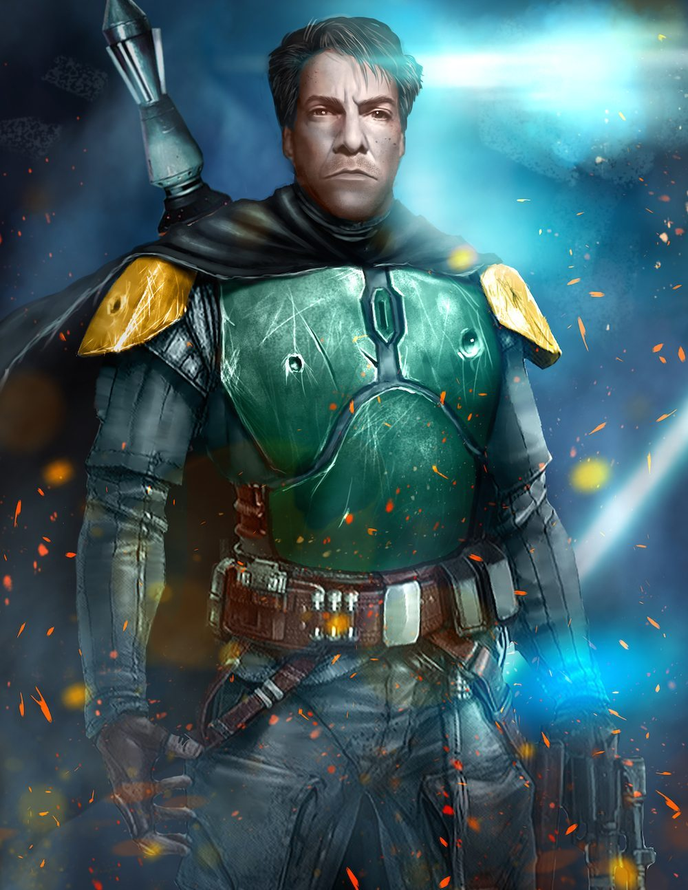 Howard Hartenbaum as Boba Fett by Danh Nguyen via ArtCorgi