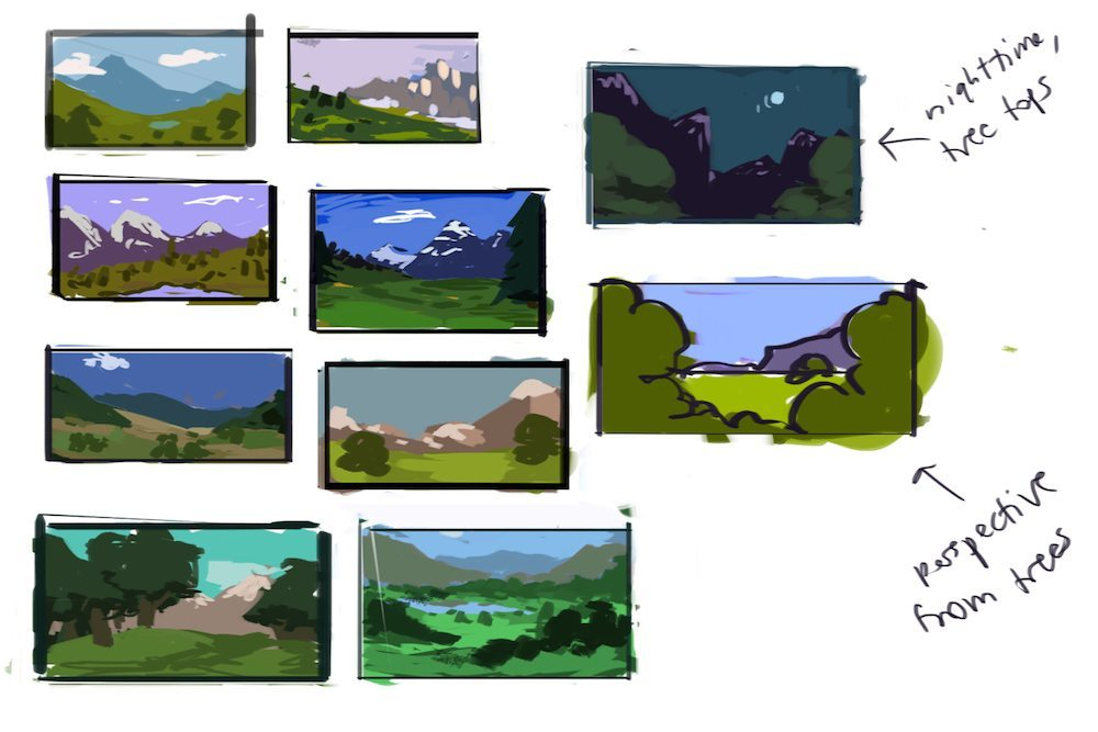 Low Poly Mountain Thumbnails by Mourphine