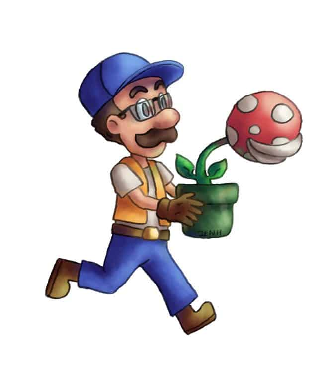 Mario Inspired Illustration by Jennifer Hicks