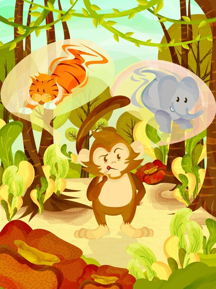 Monkey in the Jungle by JC Roxas