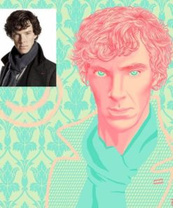 Portrait of Sherlock by Beatriz L Albir
