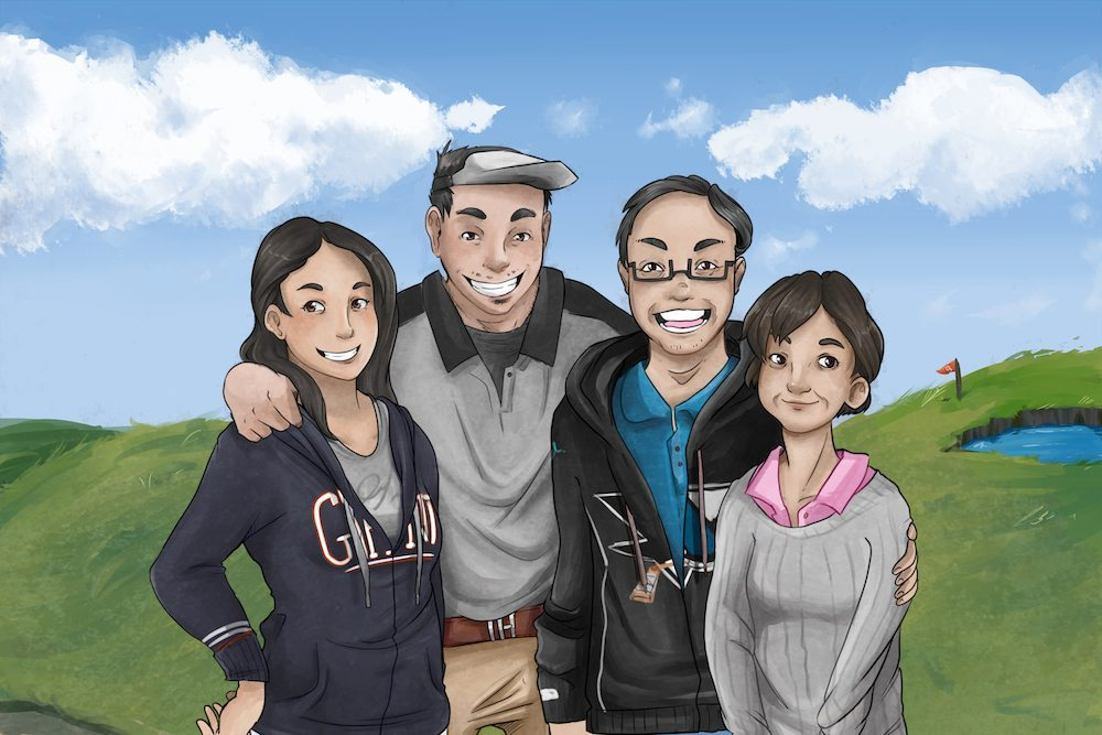 Portrait of The Ikegami Family by AruRmz via ArtCorgi
