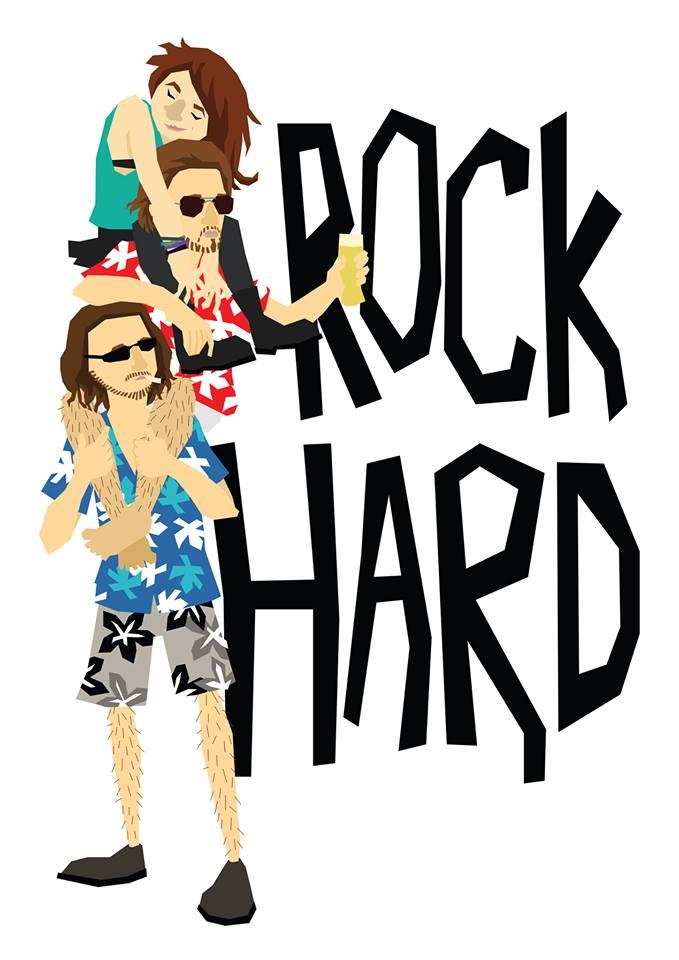 Rock Hard Vector Illustration by Myra