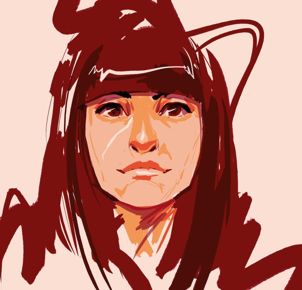 Sketched Headshot Sample by iella