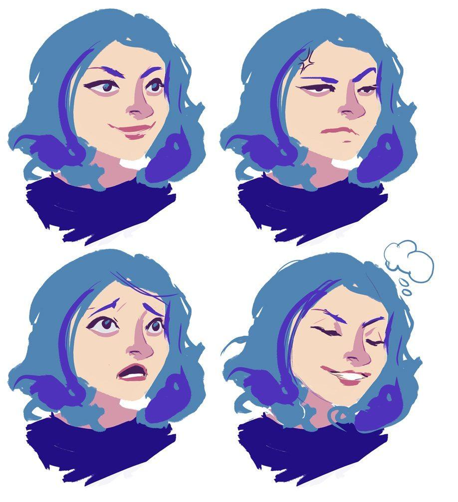 Sketched Headshot Samples by iella