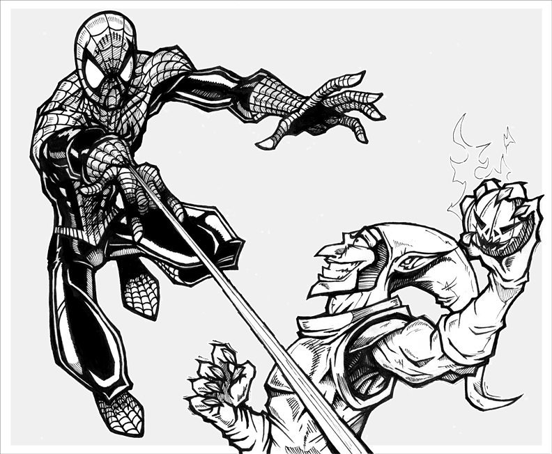 Spider Man Comic Illustration by AgentMorrison