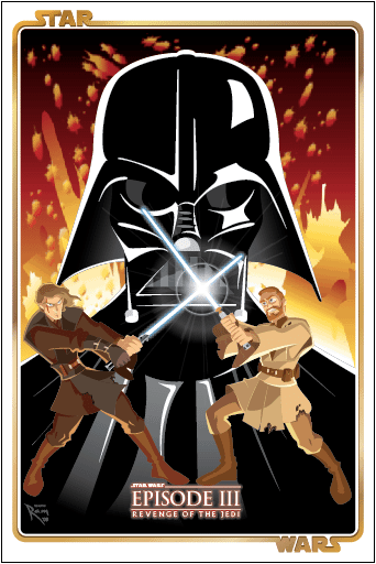 Star Wars Episode 3 Movie Poster by ArtOfRam