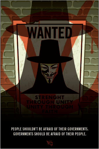 V for Vendetta Movie Poster by ArtOfRam