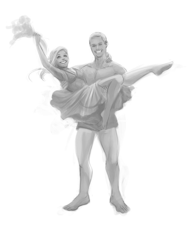 WIP Anniversary Portrait by Nell Fallcard