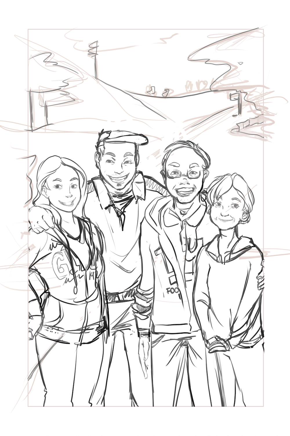 WIP Portrait of the Ikegami Family by AruRmz Zoomed In