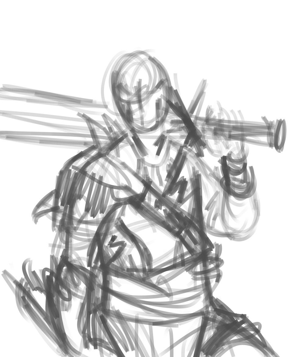 WIP of Eric the Barbarian by Namio