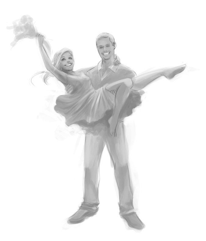 WIP of Mr and Mrs Thompson by Nell Fallcard