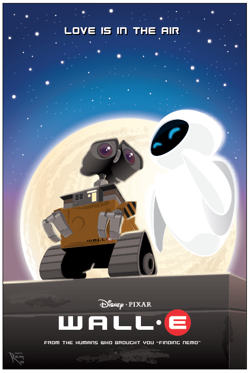 Wall-E Movie Poster by ArtOfRam