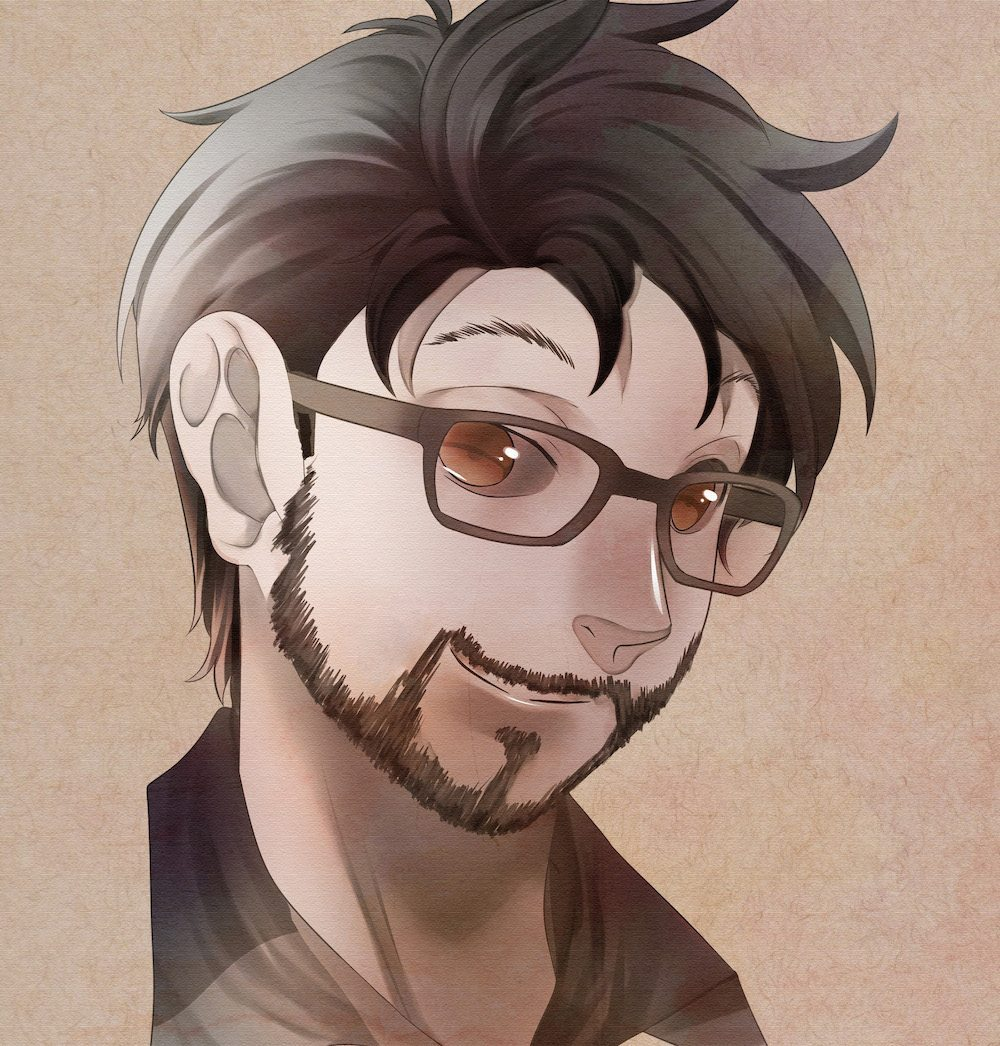 Anime Portrait of Chase Baker by Kura-Ou via ArtCorgi - Square