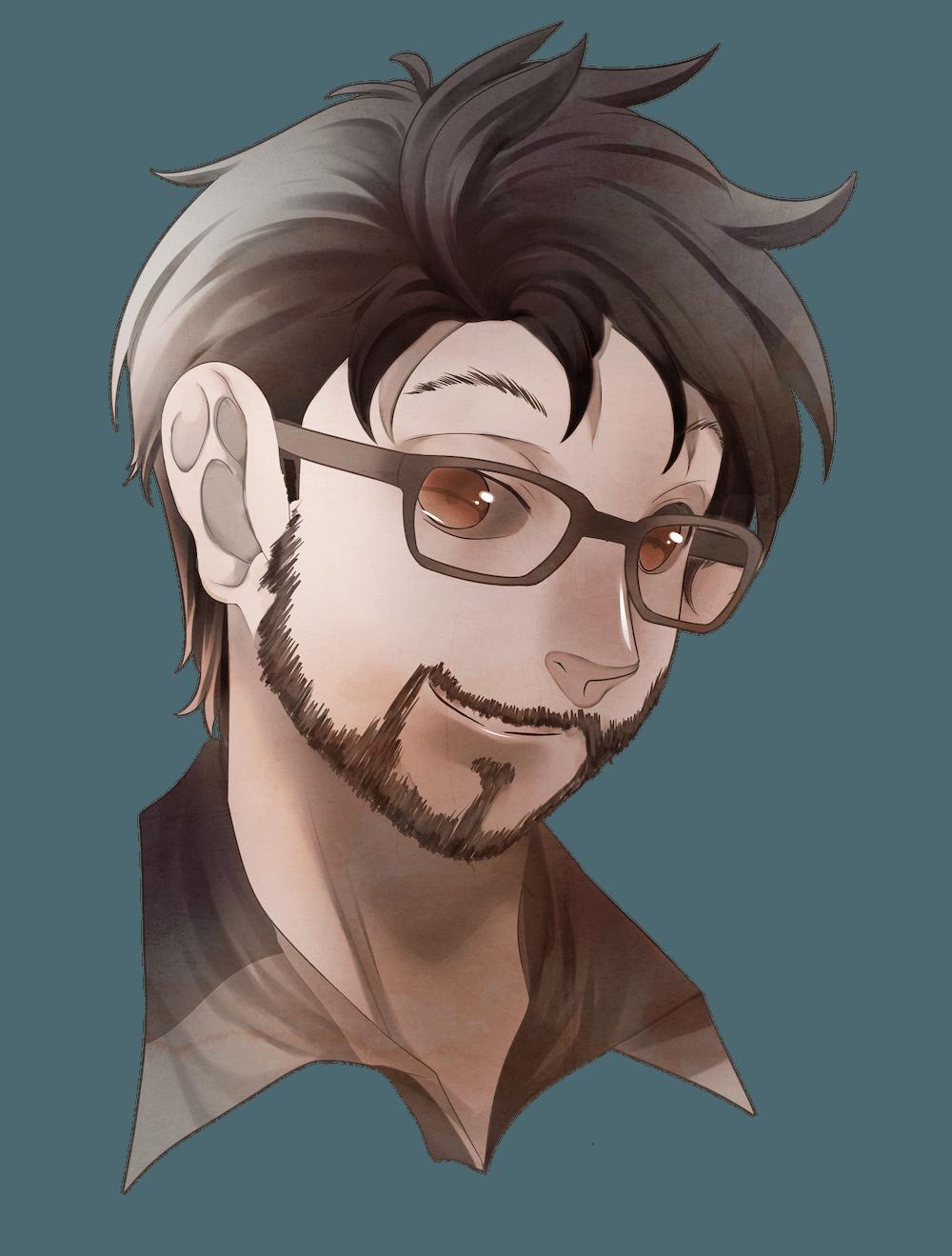 Anime Portrait of Chase Baker by Kura-Ou via ArtCorgi