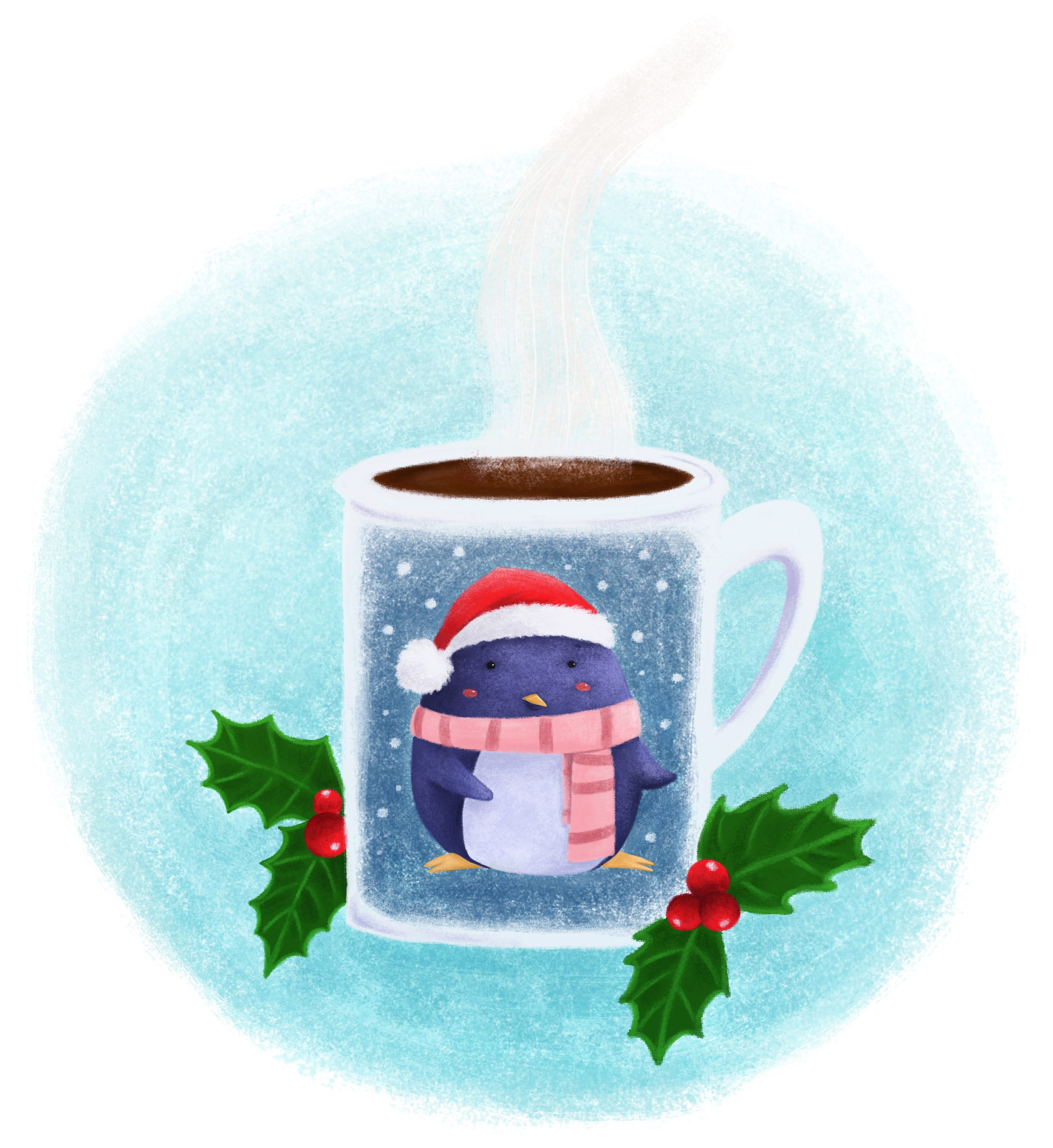 Christmas Mug Digital Illustration by Orgueil