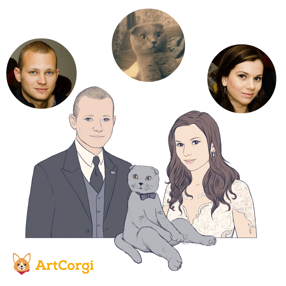 Crespella Wedding Portrait via ArtCorgi Before and After