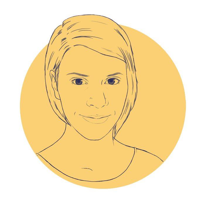 Draft Portrait of Melanie Shebel by Crespella via ArtCorgi Yellow BG