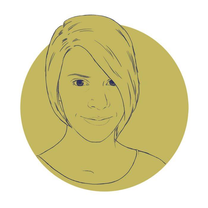 Draft Portrait of Melanie Shebel by Crespella via ArtCorgi
