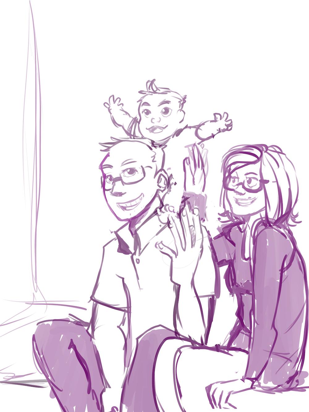 Draft Portrait of the Klawuhn Family by AruRmz