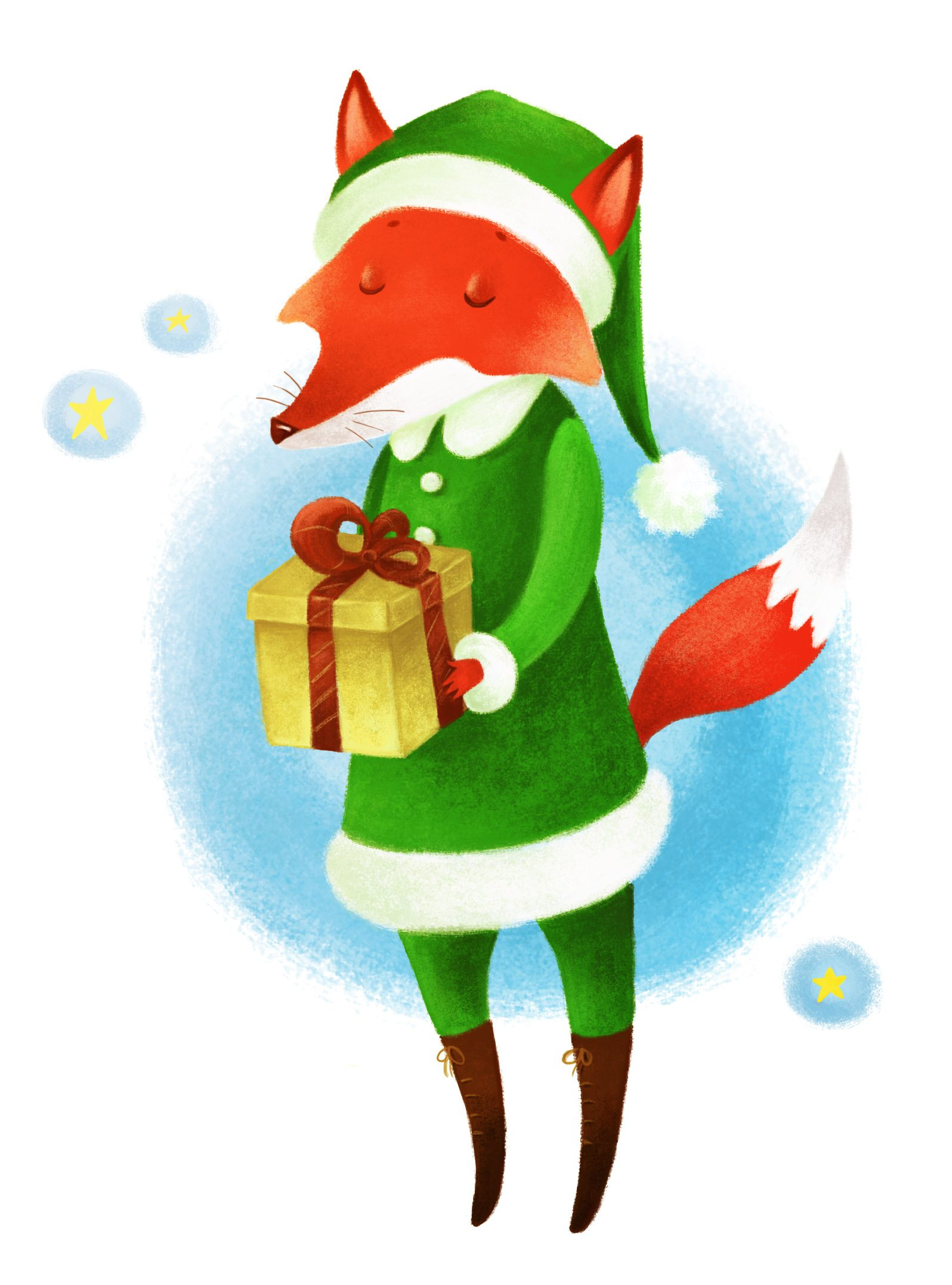 Mr Fox Digital Illustration by Orgueil