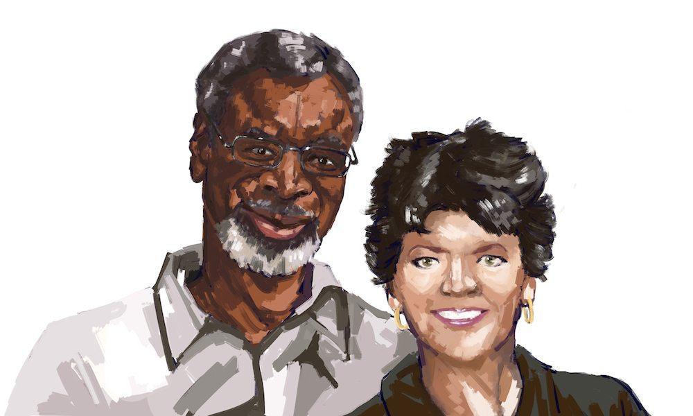 Peg Brantley and her Husband by Diogonen via ArtCorgi