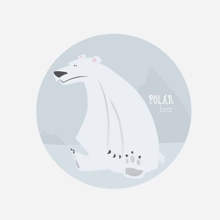 Polar Bear Portrait by Blacksmiley via ArtCorgi