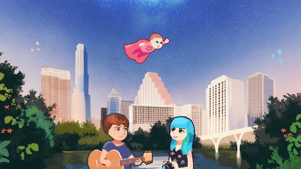 Portrait of Jessica Ingle and Her Family in Austin by Louie Zong via ArtCorgi