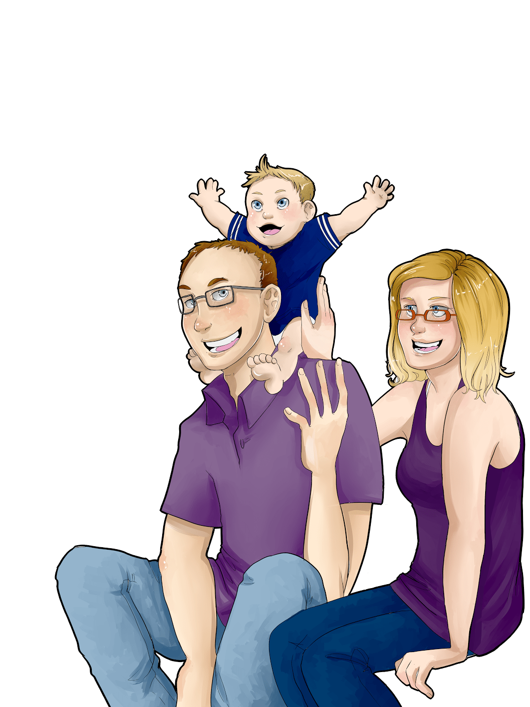 Portrait of the Klawuhn family by AruRmz via ArtCorgi