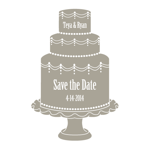 Save the Date Wedding Cake Illustration by Tina Cash-Walsh