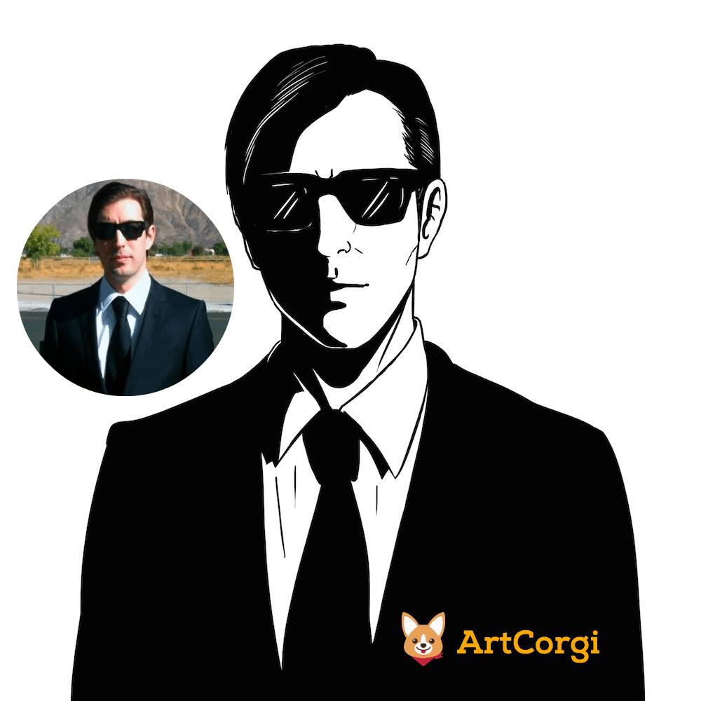 Sean Percival by Blacksmiley Before and After via ArtCorgi