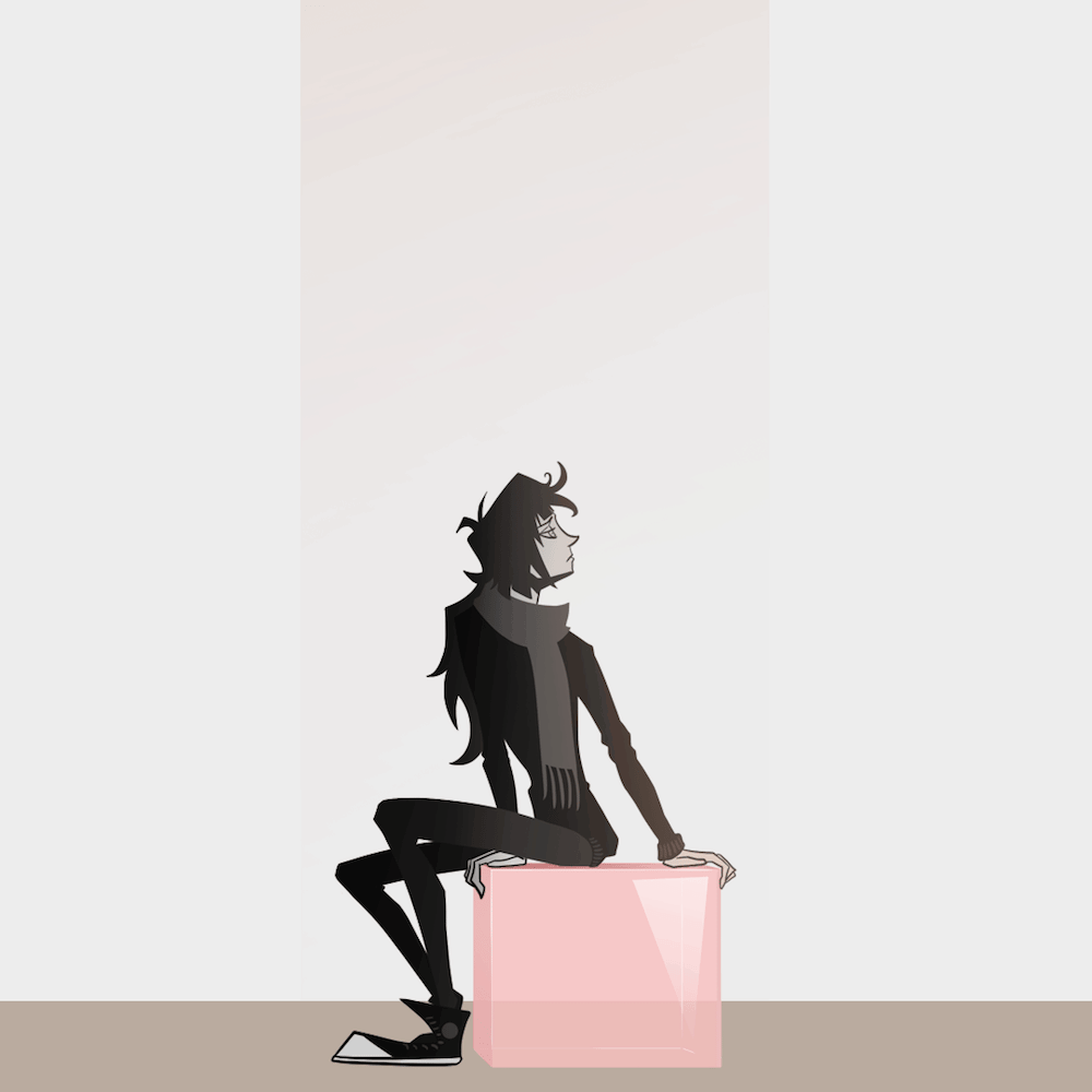 Stylized Illustration by Blacksmiley - Sitting